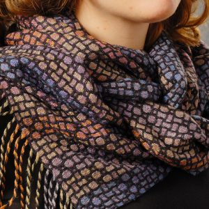 Mosaic Shawl in Soft Colors